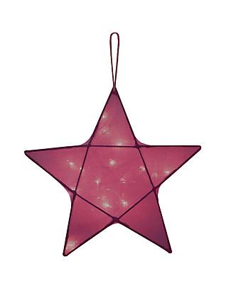 Numero 74 Lampada Stella Small 30 x 30 cm - Rosso - 100% Cotone Lampade Comodino