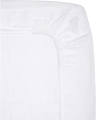 Numero 74 Lenzuolino con Angolo per Fasciatoio  50x70 cm, Bianco - Cotone -  Comprende 2 mussole Coprifasciatoi e Imbottiture