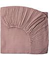 Numero 74 Lenzuolo con Angoli, Rosa Antico - 60x120 cm, Mussola di cotone Lenzuola