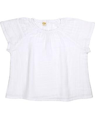 Numero 74 Maglia Bimba Clara, Bianco (3-4 anni) - 100% cotone bio Vestiti