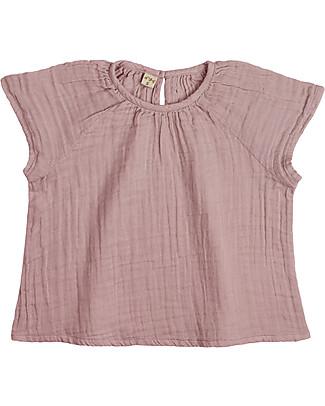Numero 74 Maglia Bimba Clara, Rosa Antico (5-6 anni) - 100% cotone bio Vestiti