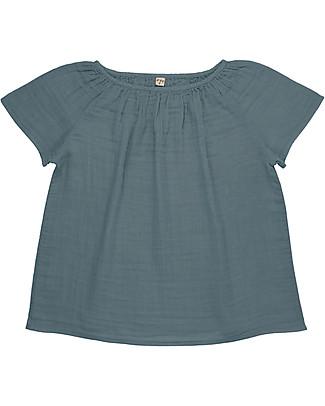 Numero 74 Maglia Donna Clara, Blu Ghiaccio - 100% cotone bio T-Shirt e Canotte