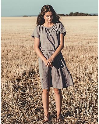 Numero 74 Maglia Donna Clara, Grigio Pietra - 100% cotone bio T-Shirt e Canotte