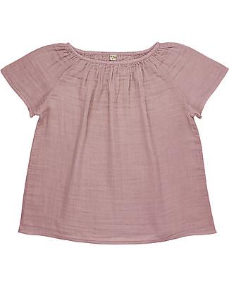 Numero 74 Maglia Donna Clara, Rosa Antico - 100% cotone bio T-Shirt e Canotte