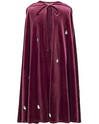 Numero 74 Mantello Bimba Leia - Rosso con Diamanti - 100% Cotone Travestimenti