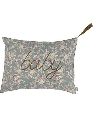 Numero 74 Message Cushion Baby - Rose su Grigio Argentato - 30x40 cm Cuscini Arredo