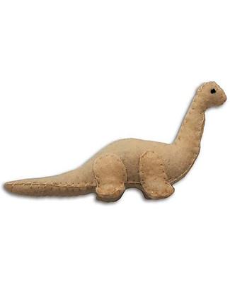 Numero 74 Mini Dinosauro di Stoffa, Brontosauro Beige - Perfetto regalino per le feste Regalini
