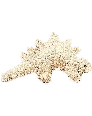 Numero 74 Mini Dinosauro di Stoffa, Stegosauro Avorio - Perfetto regalino per le feste Regalini