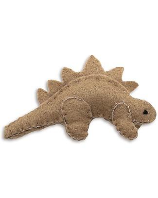 Numero 74 Mini Dinosauro di Stoffa, Stegosauro Beige - Perfetto regalino per le feste Regalini