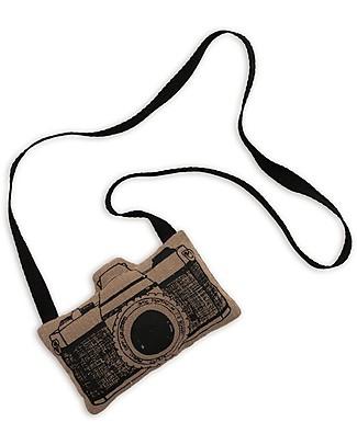 Numero 74 Mini Macchina Fotografica di Stoffa, Beige - Perfetto regalino per le feste Regalini