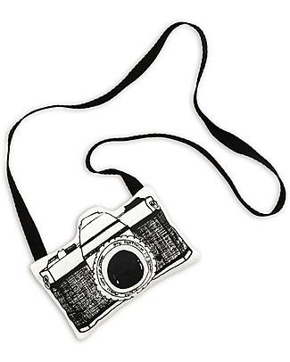 Numero 74 Mini Macchina Fotografica di Stoffa, Bianco - Perfetto regalino per le feste Regalini