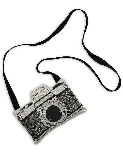 Numero 74 Mini Macchina Fotografica di Stoffa, Grigio - Perfetto regalino per le feste Regalini