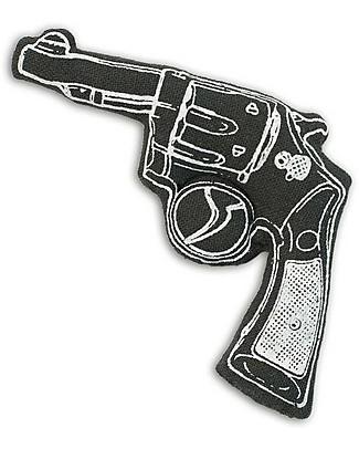 Numero 74 Mini Pistola di Stoffa - Nero - Perfetto regalino per le feste null