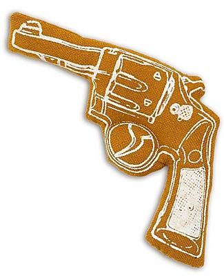 Numero 74 Mini Pistola di Stoffa - Ocra - Perfetto regalino per le feste Regalini