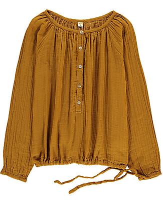 Numero 74 Naia, Camicia Mamma Maniche Lunghe, Oro - 100% cotone Camicie