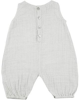 Numero 74 Pagliaccetto Bianco - Mussola di Cotone Tutine Corte