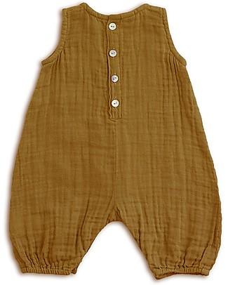 Numero 74 Pagliaccetto Stef, Oro - Mussola di cotone (1-2 anni) Salopette