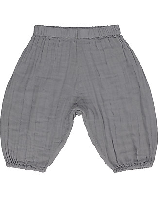 Numero 74 Pantaloni Baby Joe, Grigio Pietra (9-12 mesi) - 100% cotone bio  Pantaloni Corti