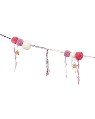 Numero 74 Pompom Garland - Mix Pink Festoni
