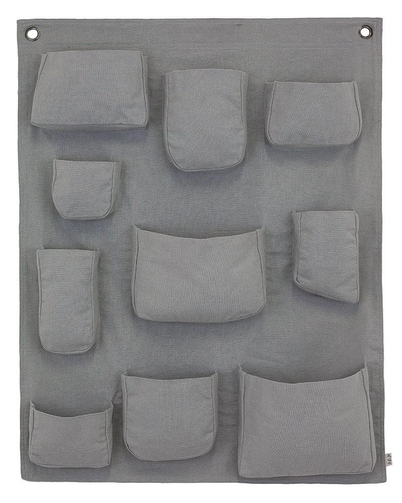 Numero 74 Porta Oggetti da Muro - Argento - Tela di Cotone Contenitori ...