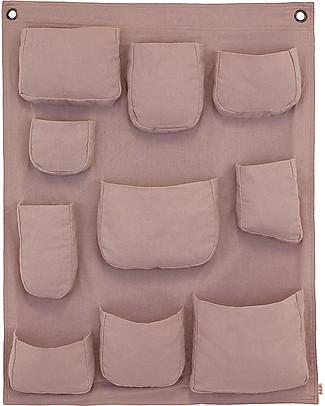 Numero 74 Porta Oggetti da Muro, Rosa Antico - 100% Cotone Contenitori Porta Giochi