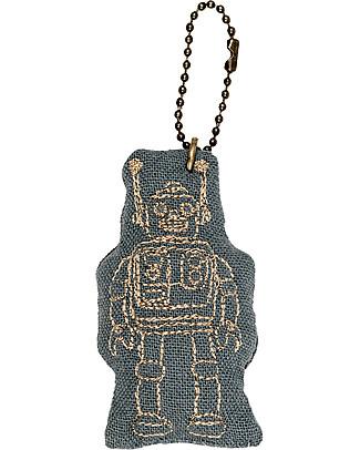 Numero 74 Portachiavi Robot - Azzurro Ghiaccio - Regalino perfetto! null