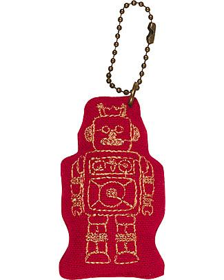 Numero 74 Portachiavi Robot - Rosso Rubino - Regalino perfetto! Regalini