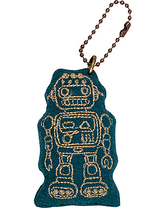 Numero 74 Portachiavi Robot - Verde Petrolio - Regalino perfetto! null