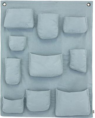 Numero 74 Portaoggetti da muro, Celeste - 100% cotone Contenitori Porta Giochi