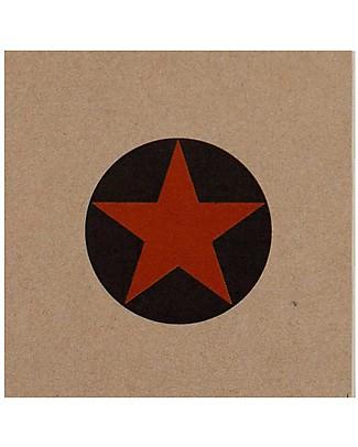 Numero 74 Quadernino Super Eroe, Stella Arancione - Regalino perfetto anche per le feste Regalini