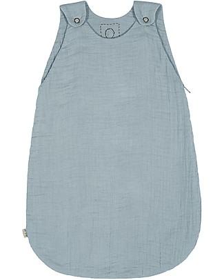 Numero 74 Sacco Nanna Estivo, 6-12 mesi, Celeste – 100% Cotone, 75 cm Sacchi Nanna Leggeri