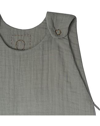 Numero 74 Sacco Nanna Estivo, 6-12 mesi, Grigio Argento – 100% Cotone, 75cm Sacchi Nanna Leggeri