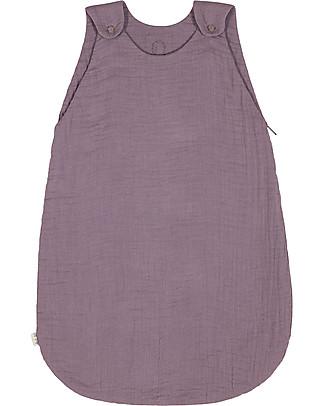 Numero 74 Sacco Nanna Estivo, 6-12 mesi, Lilla – 100% Cotone, 75cm Sacchi Nanna Leggeri