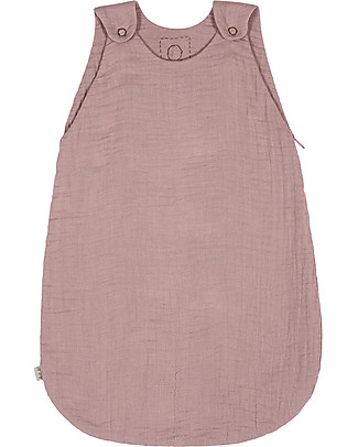 Numero 74 Sacco Nanna Estivo, 6-12 mesi, Rosa Antico – 100% Cotone, 75cm Sacchi Nanna Leggeri