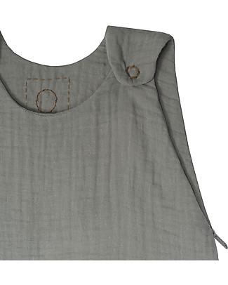 Numero 74 Sacco Nanna Estivo, 9-18 mesi, Grigio Argento – 100% Cotone, 85cm Sacchi Nanna Leggeri