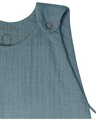 Numero 74 Sacco Nanna Estivo, Blu Ghiaccio – 100% Cotone, 75cm Sacchi Nanna Leggeri