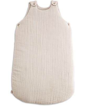 Numero 74 Sacco Nanna Invernale 6-12 mesi, Cipria - 100% Cotone Sacchi Nanna Leggeri