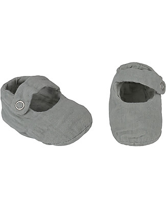 Numero 74 Scarpine Sissi Baby Slippers, Argento - 100% cotone bio Scarpe