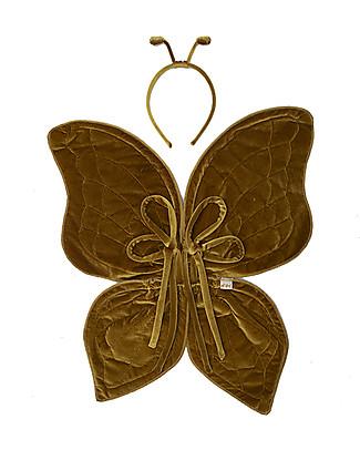 Numero 74 Set Ali da Farfalla e Antennine, Oro  - S024 Adesivi Da Parete