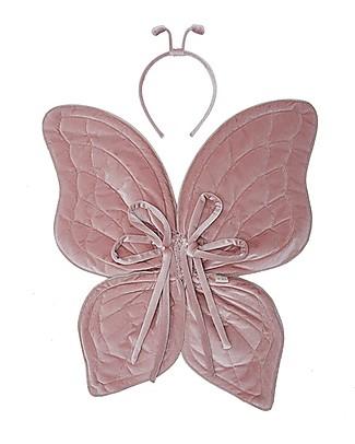 Numero 74 Set Ali da Farfalla e Antennine, Rosa Antico Adesivi Da Parete