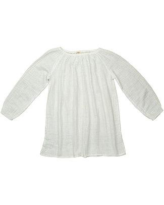 Numero 74 Tunica Donna Bianca - Doppia Mussola di Cotone Vestiti