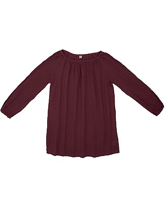 Numero 74 Tunica Donna Nina - Red Macaron - 100% Mussola di Cotone Vestiti