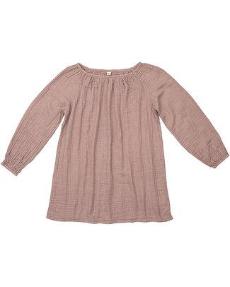 Numero 74 Tunica Donna Nina - Rosa Antico - 100% Mussola di Cotone Vestiti
