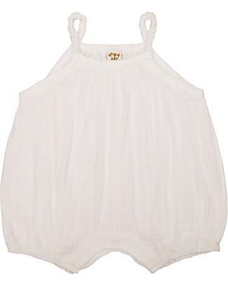 Numero 74 Tutina Senza Maniche con Pantaloncini Corti Lolita, Natural (1-2 anni) - 100% cotone bio Tutine Corte