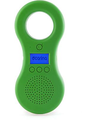 Ocarina Ocarina Lettore MP3 8GB per Bambini - Verde - 43 contenuti omaggio! MADE IN ITALY! Lettore Mp3