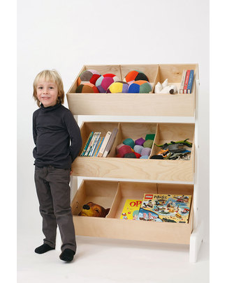 Oeuf Portagiochi Toy Store - Betulla e Bianco Contenitori Porta Giochi