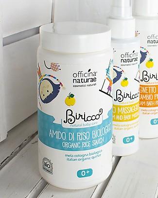 Officina Naturae Amido di Riso Biologico con Mela Cotogna e Malva, 100 gr - Delicato e addolcente, perfetto per pelli irritate Detergenza
