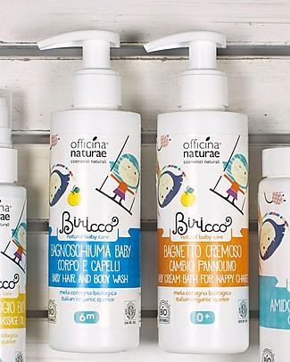 Officina Naturae Bagnoschiuma Baby Delicato alla Mela Cotogna Bio, 200 ml Shampoo e Prodotti per il Bagnetto