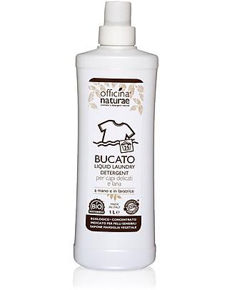 Officina Naturae Bio Detersivo Liquido per Bucato a mano e in Lavatrice Concentrato, 1 lt - Adatto anche a lana e capi delicati Detergenza