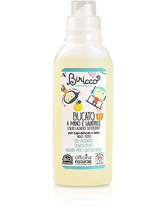 Officina Naturae Bio Detersivo Liquido per Bucato a mano e in Lavatrice Concentrato, 500 ml - Adatto ai capi dei bambini Detergenza